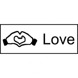 Hand Heart Love Stamp