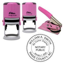 Maryland Notary Pink - Round Design Seal