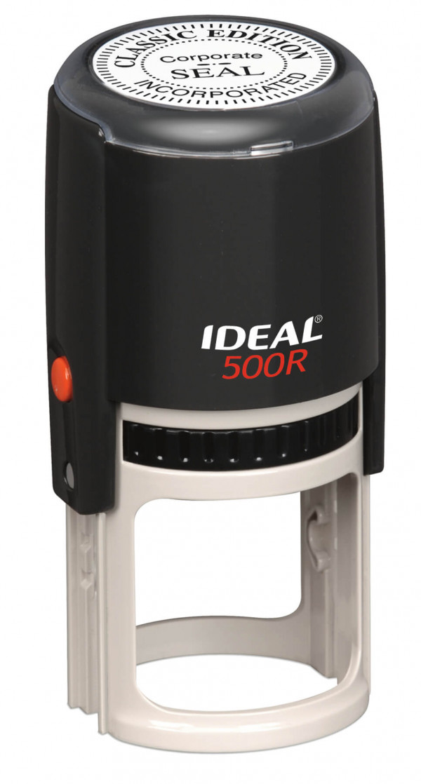 Ideal by Trodat 500R Round Stamp with Black Ink