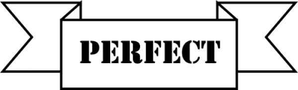 Perfect banner teacher rubber stamp