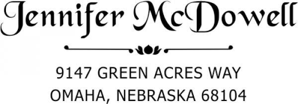 McDowell Deco Handwritten Address Stamp