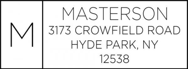 Masterson Minimalist Address Stamp