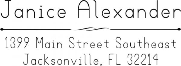 Alexander Simple Return Address Stamp