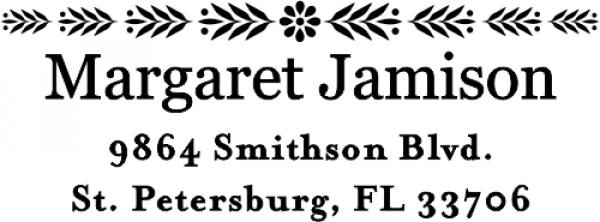 Small Jamison Single Flower Deco Address Stamp