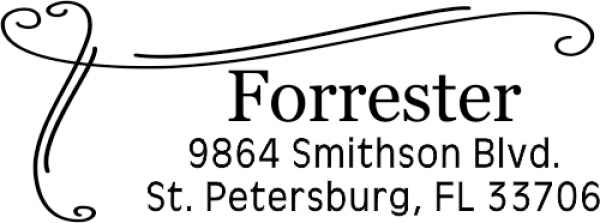 Forrester Border Address Stamper