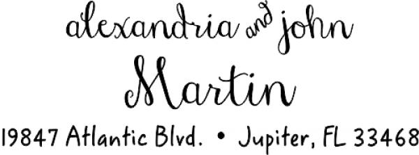 Martin Handwritten Address Stamp