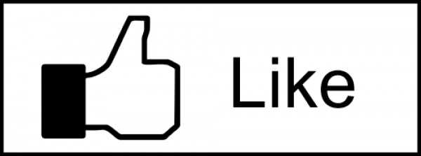 Facebook Like Icon Rubber Stamp