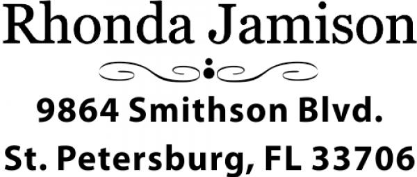 Jamison Deco Return Custom Address Stamp