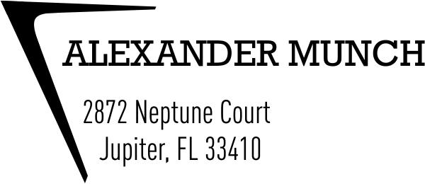 Munch Address Stamp
