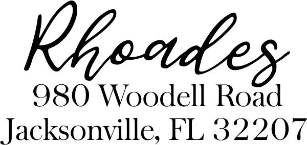 Rhoades Address Stamp