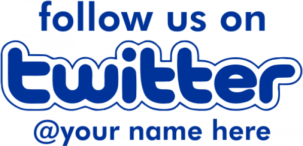 Follow Us On Twitter Rubber Stamp