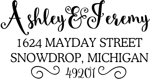 Mayday Address Stamp
