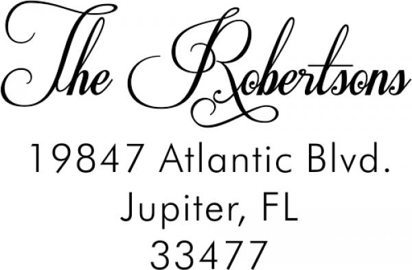 Robertsons Handwritten Custom Return Address Stamp