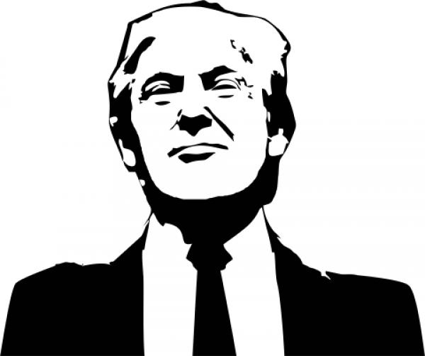 Donald Trump Political Figure Stamp
