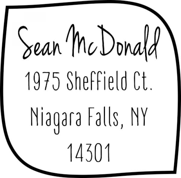 McDonald 4 Line Custom Address Stamper