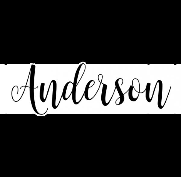 Anderson Round Return Address Stamp