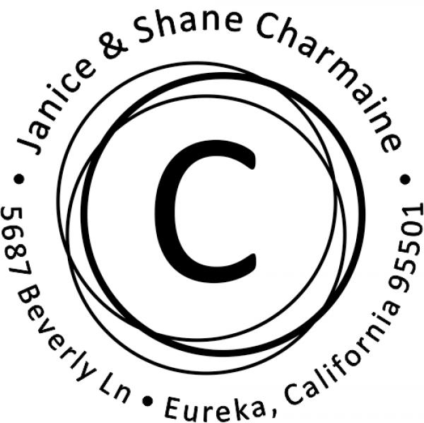 Charmaine Circle Element Address Stamp