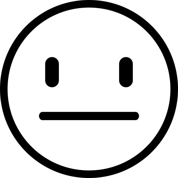 Straight Face Emoji Teacher Craft Stamp
