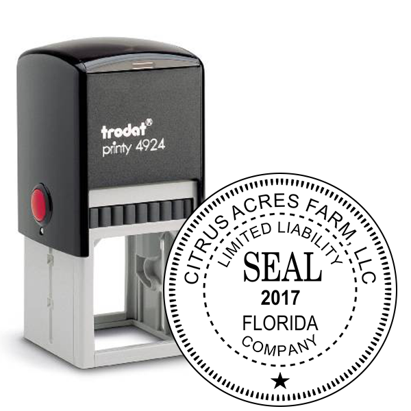 Limited Liability Company with Date Seal Rubber Stamp