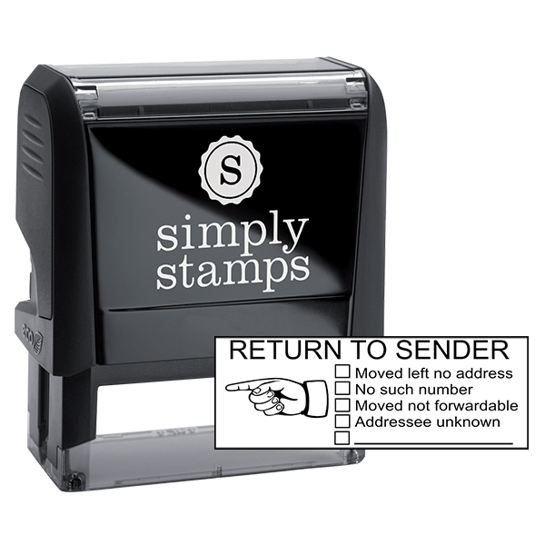Return To Sender Check Boxes Self-Inking Stock Stamp