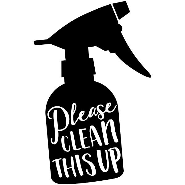 Please Clean Cute Round Teacher Grading Stamp
