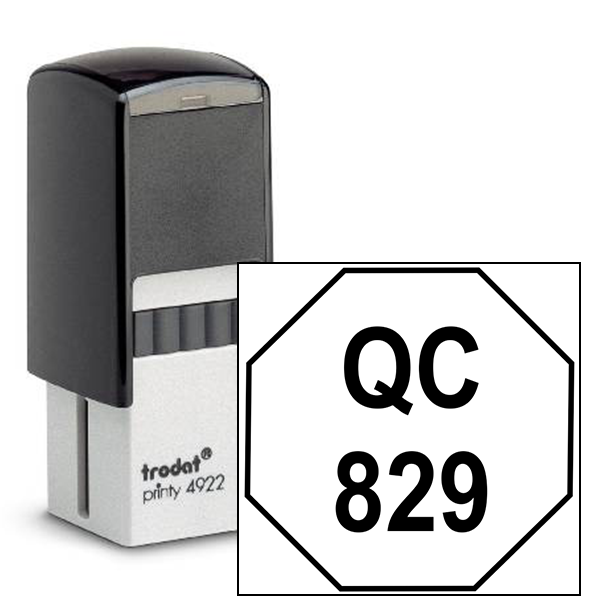 Octagon Shape QC Inspection Stamp