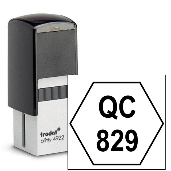 Polygon Shape QC Inspection Stamp