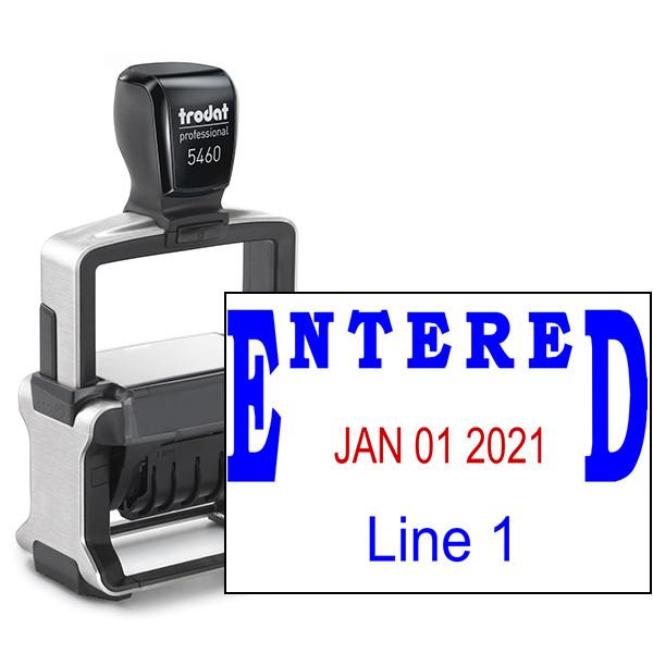 Trodat Professional Entered Date Stamp