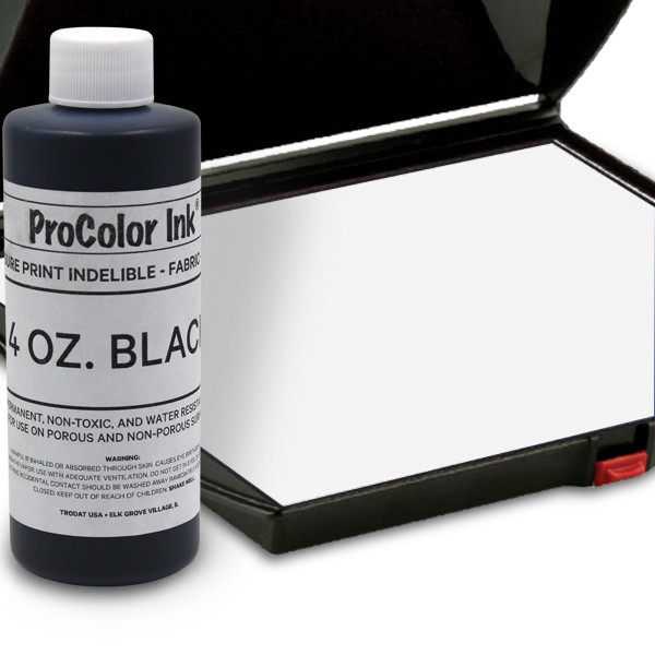 Black 4oz SuperMarking Ink w/ Large Pad