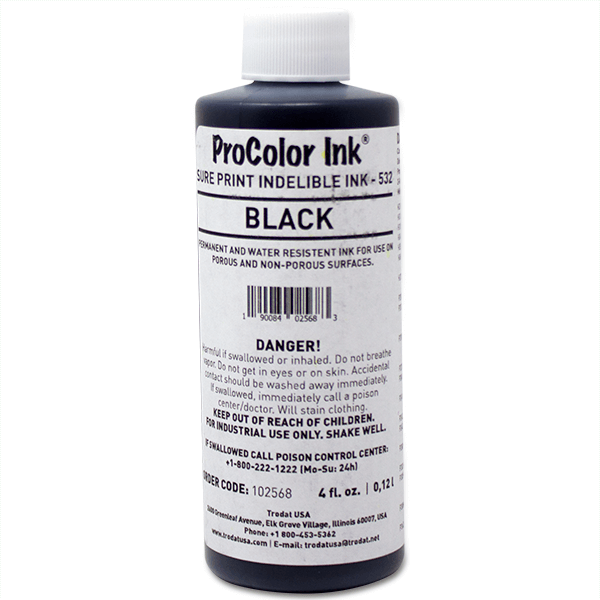 Clothing Stamp 4 oz Black Ink Bottle