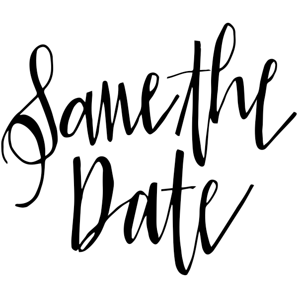 Glam Save the Date Stamp