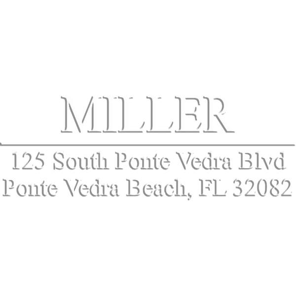 Miller Rectangular Return Address Pocket Embosser