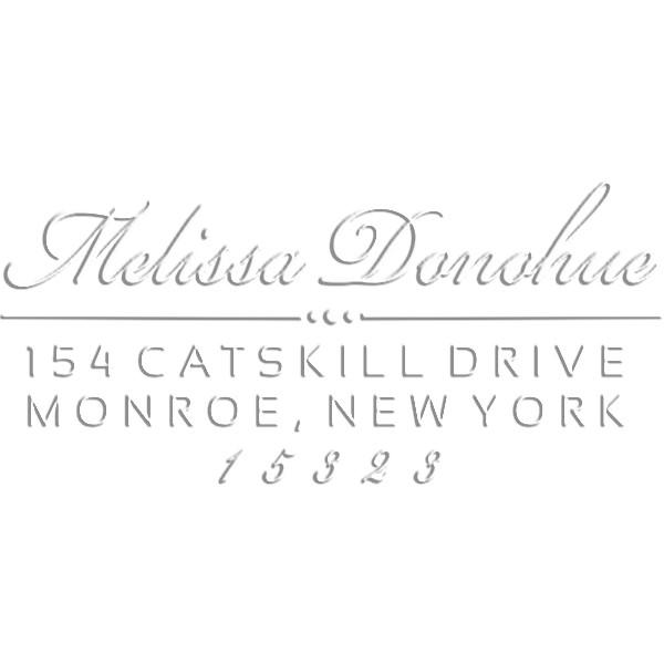 Donahue Rectangular Return Address Embosser