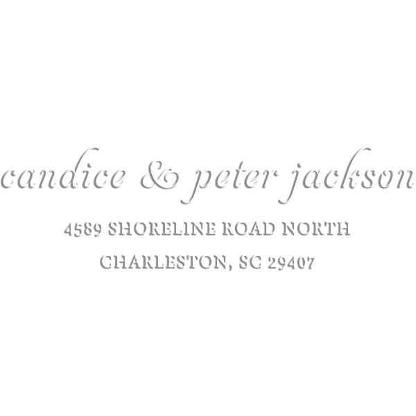 Jackson Handwritten Return Address Embosser