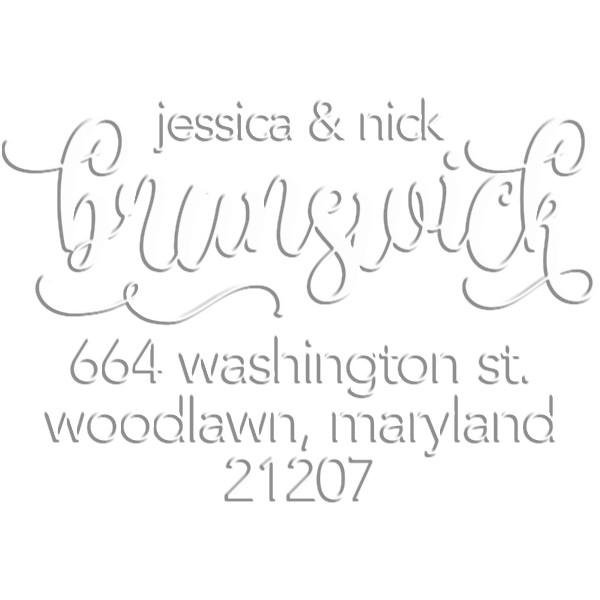 Brunswick Script Round Return Address Embosser