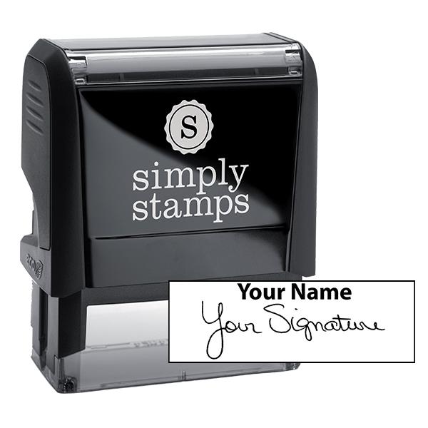 Extra Large Signature Stamp Top