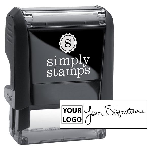 Small Signature Logo Stamp