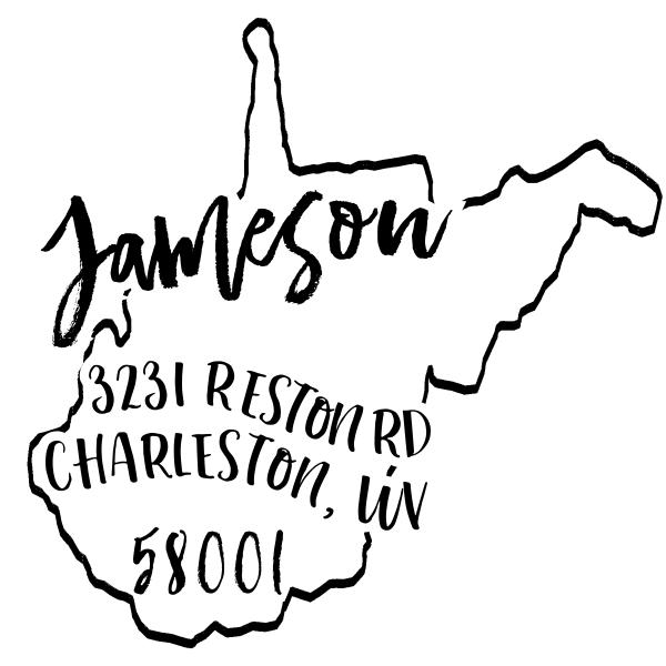 Custom West Virginia Address Stamp