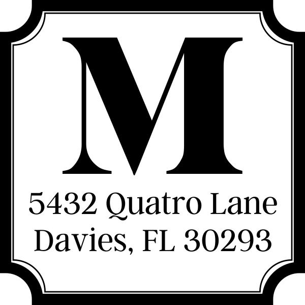 Quatro Address Stamp