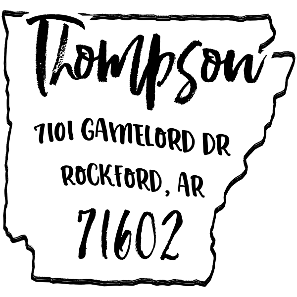Custom Arkansas Address Stamp