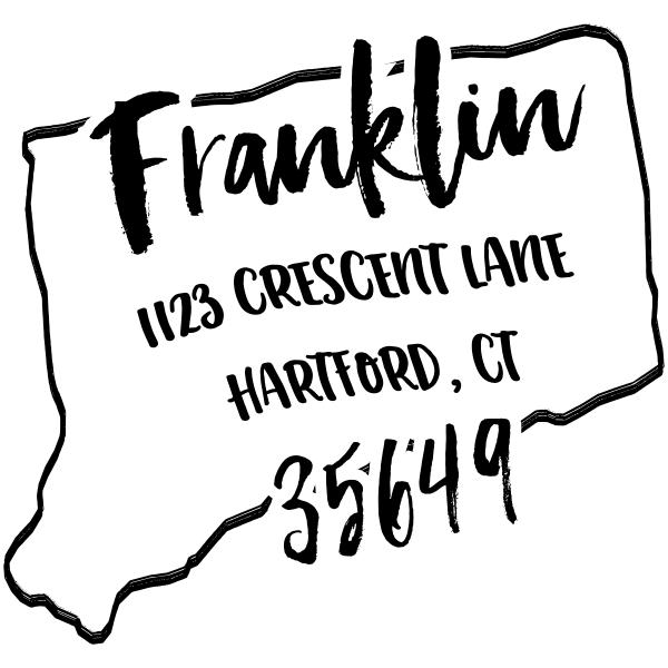 Custom Connecticut Address Stamp