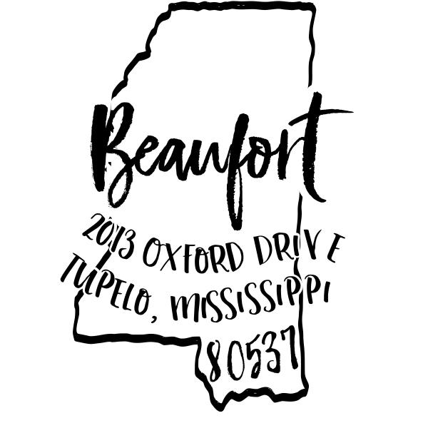 Custom Mississippi Address Stamp