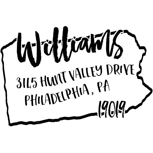 Custom Pennsylvania Address Stamp