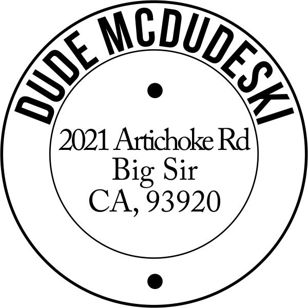 McDudeski Address Stamp