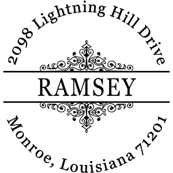 Ramsey Vintage Deco Custom Address Stamper