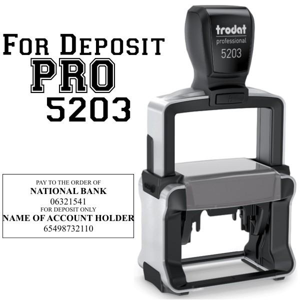 Trodat Professional 5205 Self-inking stamp for Logos