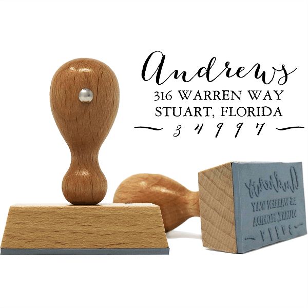 Andrews European Hand Address Stamp