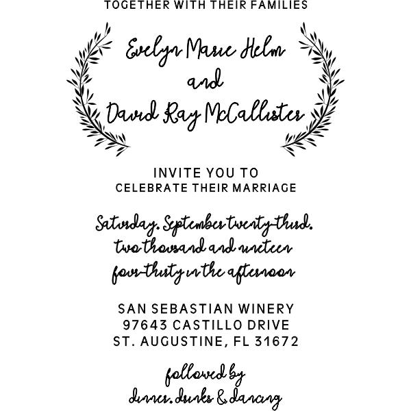 Whimsical Wedding Invitation Stamp