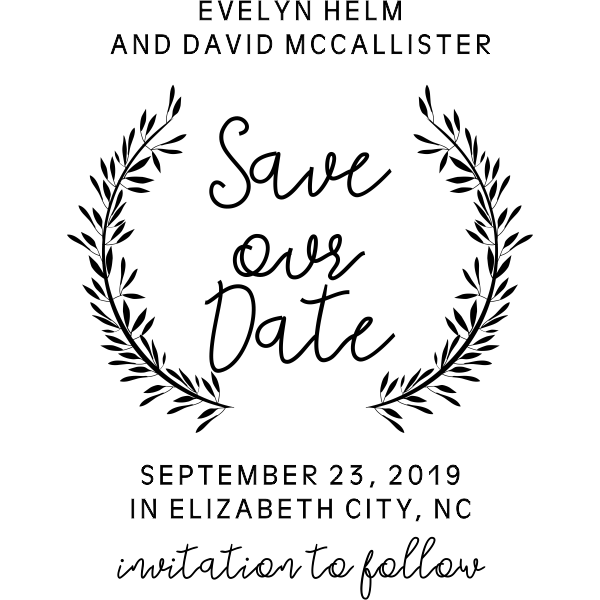 Whimsical Wedding Save the Date Stamp