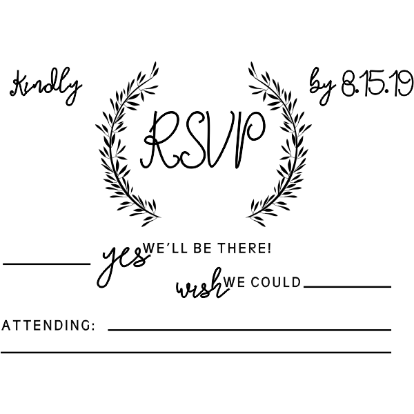 Whimsical Wedding RSVP Stamp